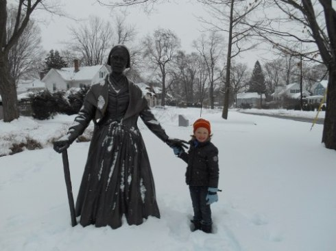 Lily with Sojourner Truth