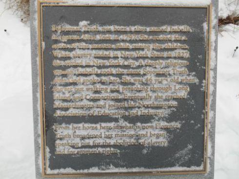 Sojourner Truth plaque