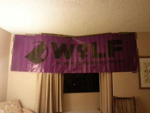 WoLF Banner Proudly Displayed at RadFem Suite
