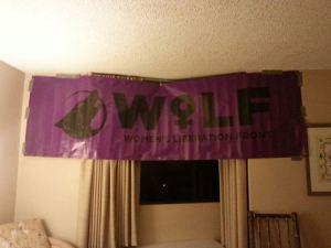 WoLF Banner Proudly Displayed at RadFem Suite